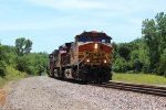 BNSF 4122 leads a EB Freight train with 2 Fake bonnets.